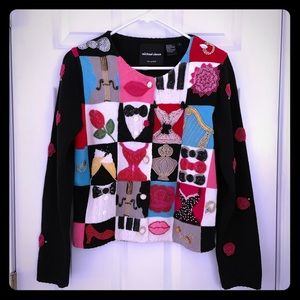 Michael Simon party sweater RARE very detailed